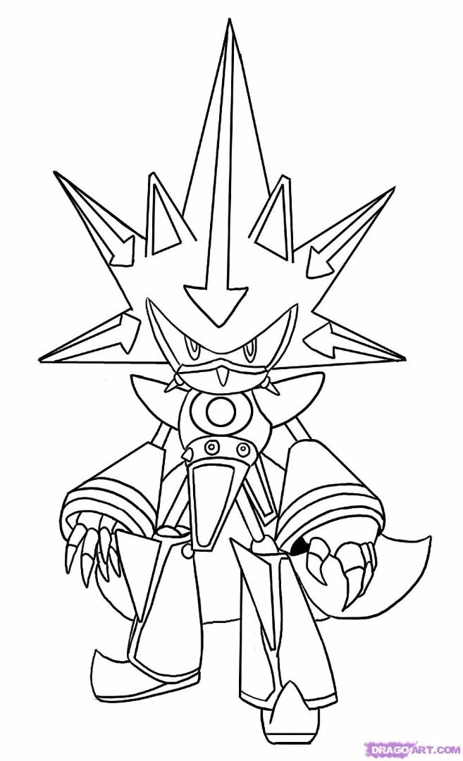 sonic coloring pages - Classic Super Sonic Coloring Pages