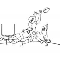 Football player coloring pages