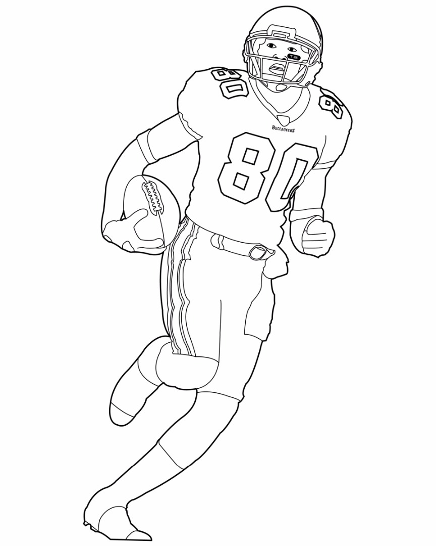 Boy Football Player Coloring Sheet Boy Playing Football Coloring ...