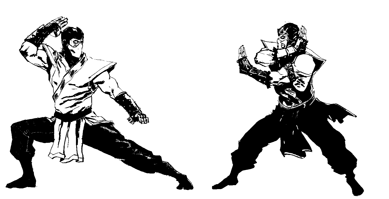 Scorpion Vs Sub Zero Coloring Pages