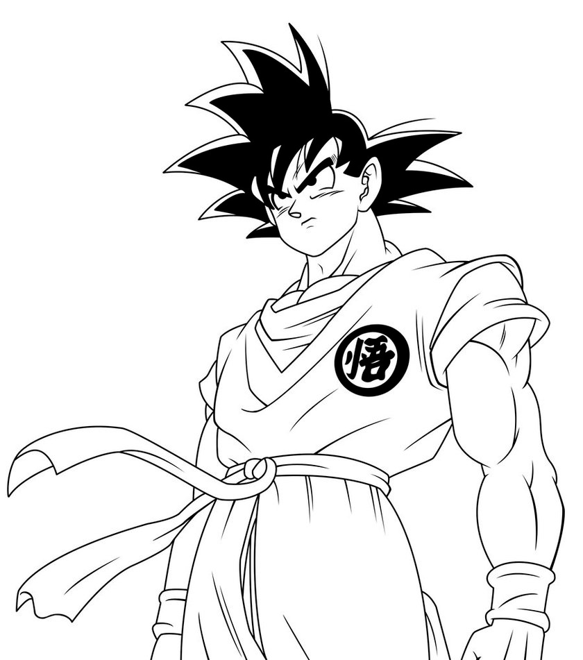 coloring pages goku