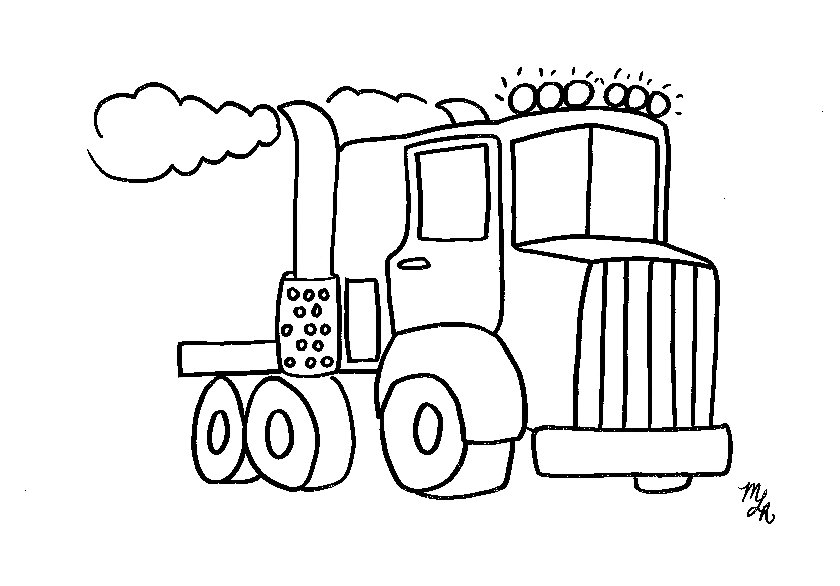 truck coloring pages - Big Truck Coloring Pages Kids