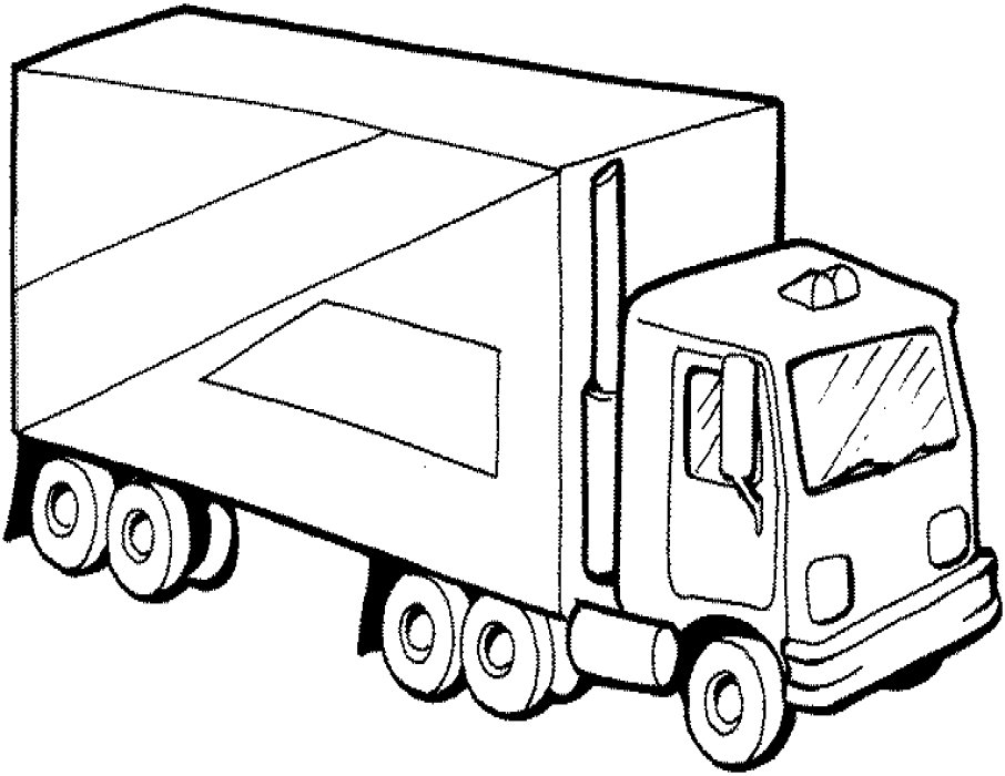 semi truck coloring pages - Truck Coloring Pages