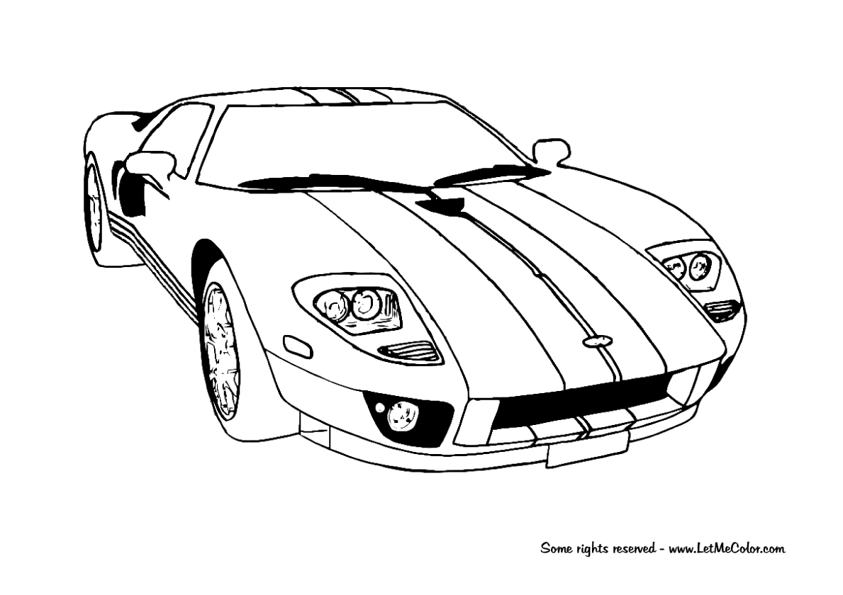 coloring pages dodge challenger coloring pages mycoloring free