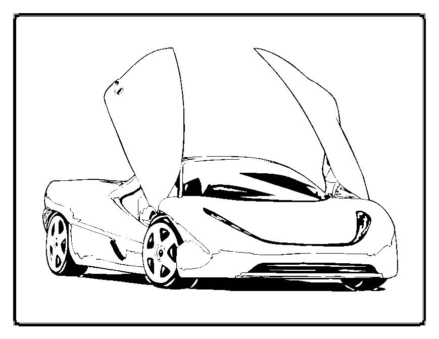 Real Cars Coloring Pages Real Car Coloring Pages