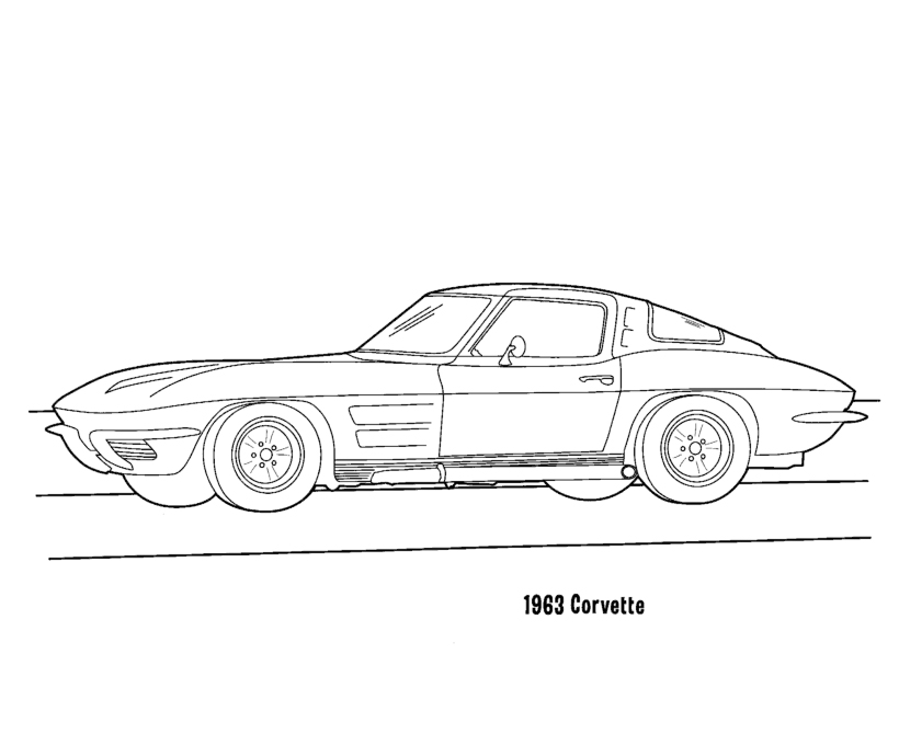 Corvette Coloring Pages Coloring Pages Corvette Coloring Pages