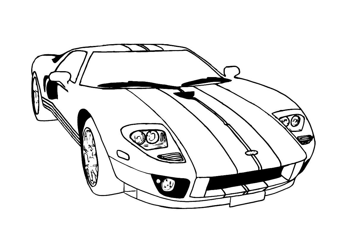corvette coloring pages - Corvette Coloring Pages Printable