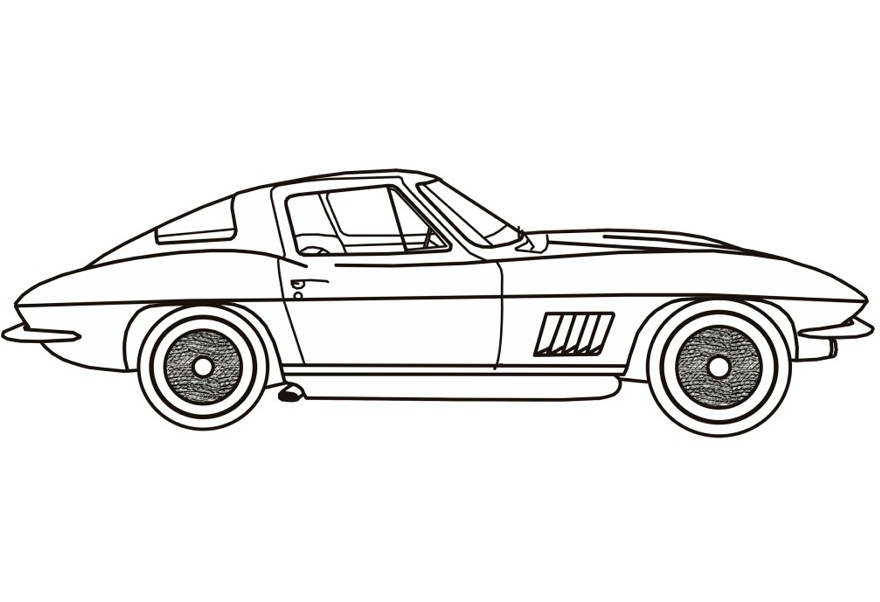 chevy corvette clic cars coloring pages kids play color - Corvette Coloring Pages Printable
