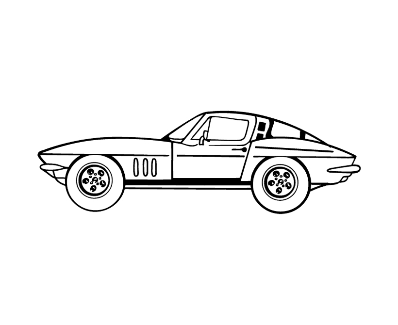 corvette coloring pages to print for kids download print and color - Corvette Coloring Pages Printable