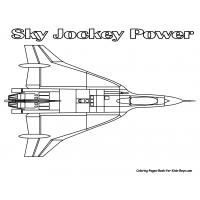 Jet coloring pages