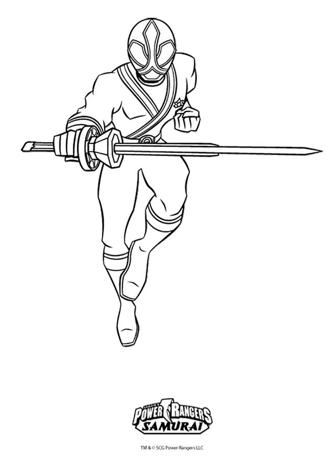 Power Rangers Samurai coloring