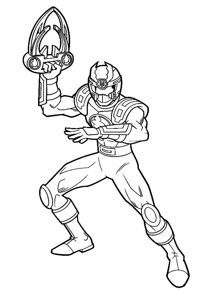 Power rangers samurai coloring pages for Samurai rangers coloring pages