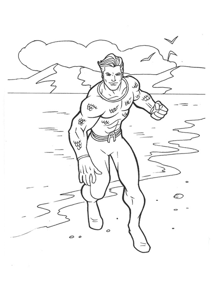 Aquaman Coloring Pages