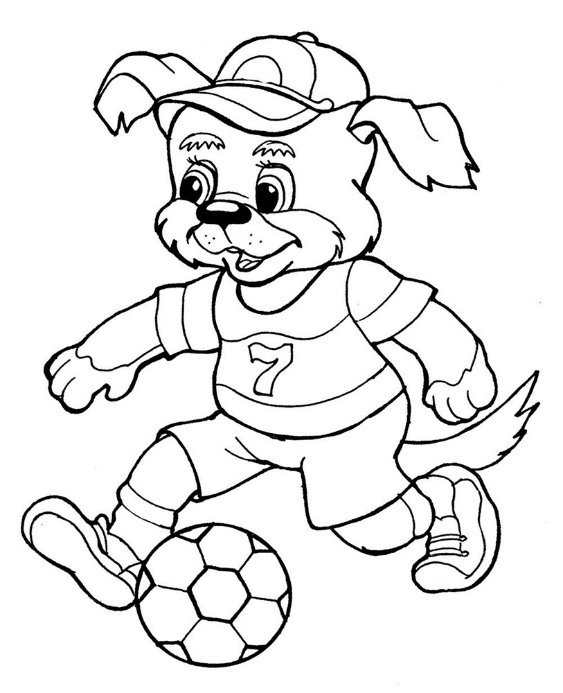 Soccer player coloring pages for Soccer coloring pages to print
