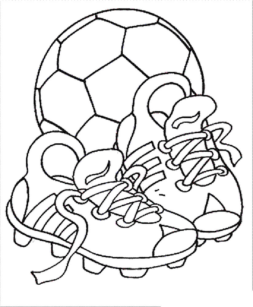 100 coloring pages soccer boy playing soccer coloring page