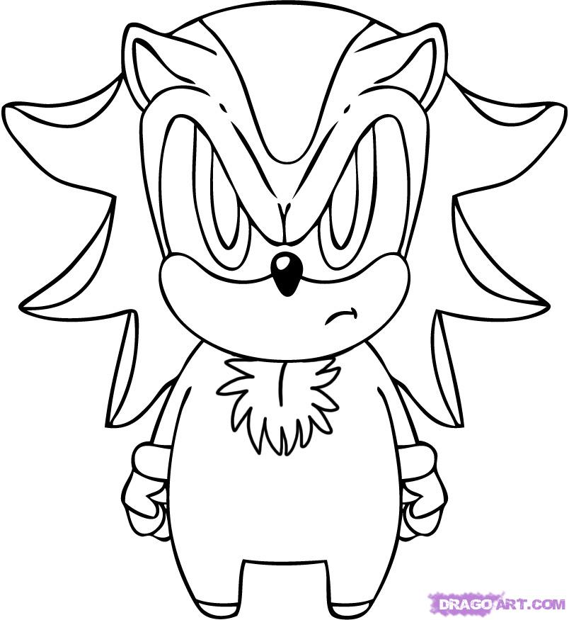 coloring pages of shadow the hedgehog | Shadow the hedgehog coloring pages