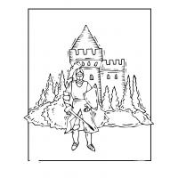 Castles and knights coloring pages