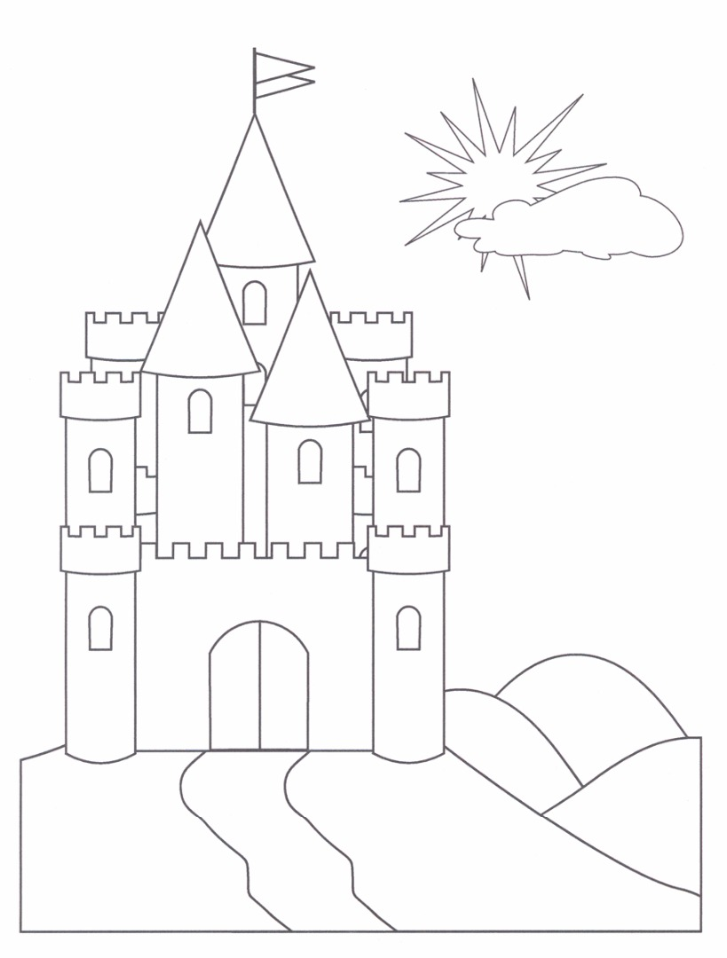 and knights coloring pages