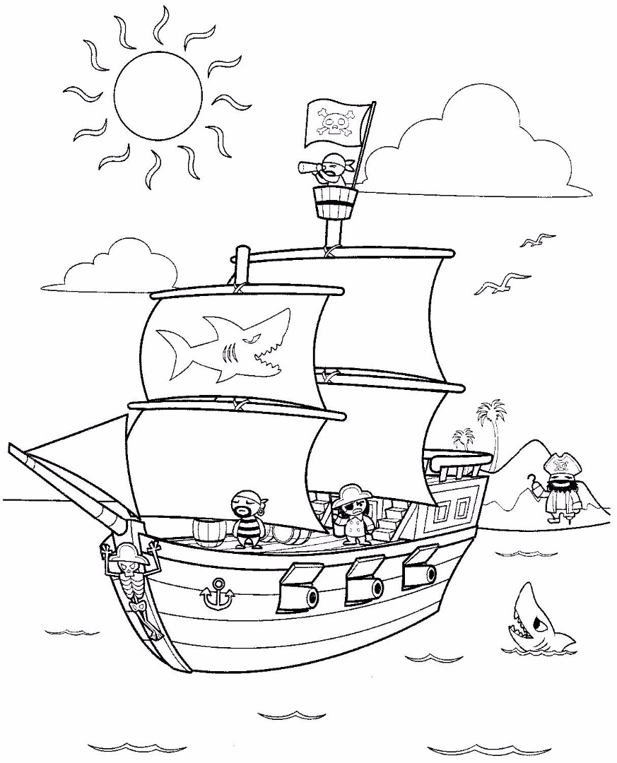 Coloring pages for jake and the neverland pirates - Lego Pirates Coloring Pages