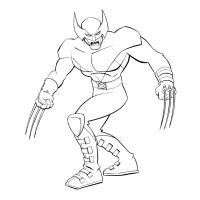 Wolverine coloring pages