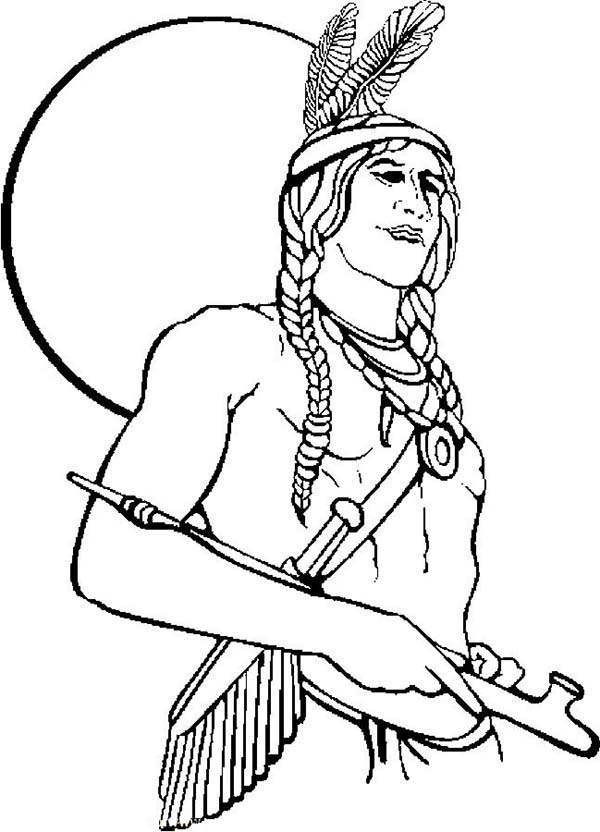 Native American Boy Coloring Coloring Coloring Pages