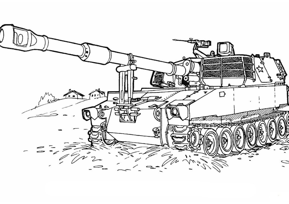 Coloring pages army - Army Tanks Coloring Pages