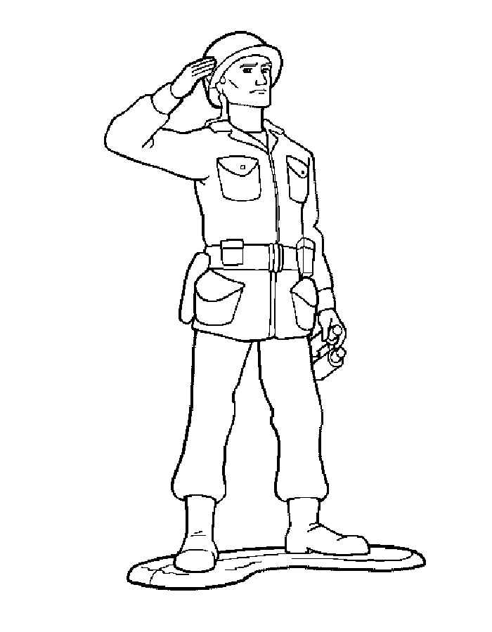 Boy Toys Template : Soldier coloring pages