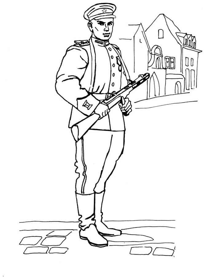 Картинки раскраски о солдатах