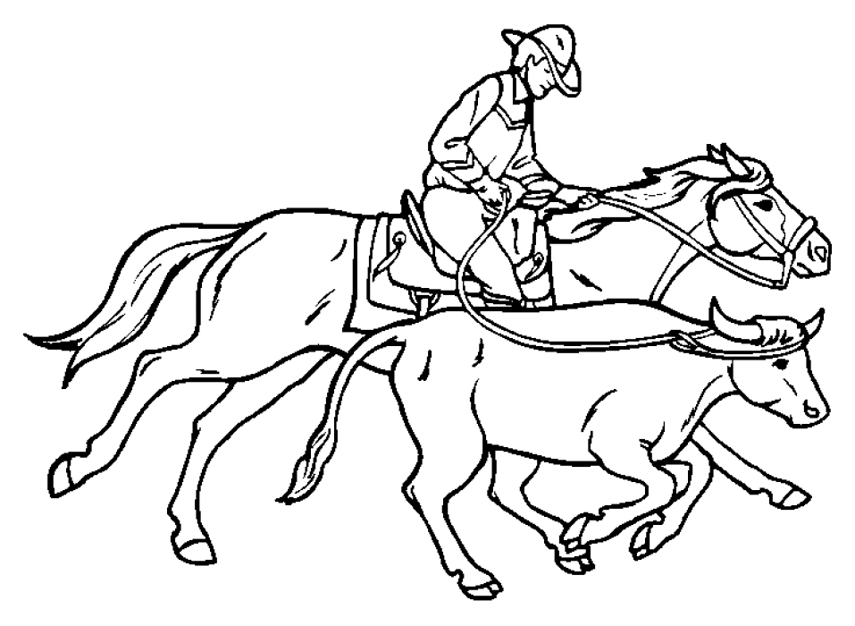 Coloring Pages Cowboys Coloring Pages