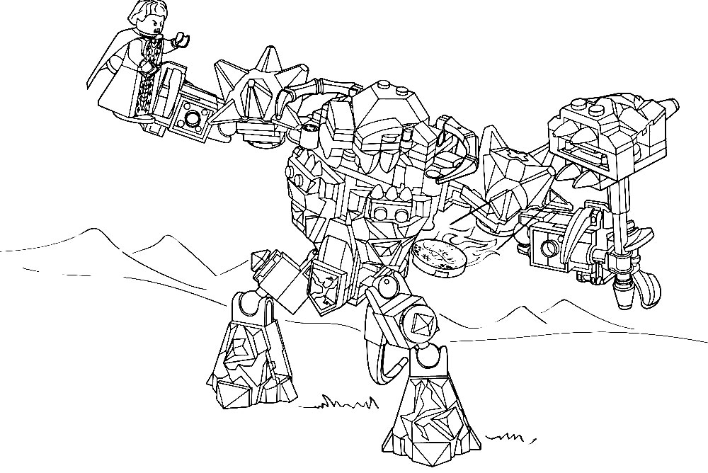 Lego Nexo Knights Coloring Pages