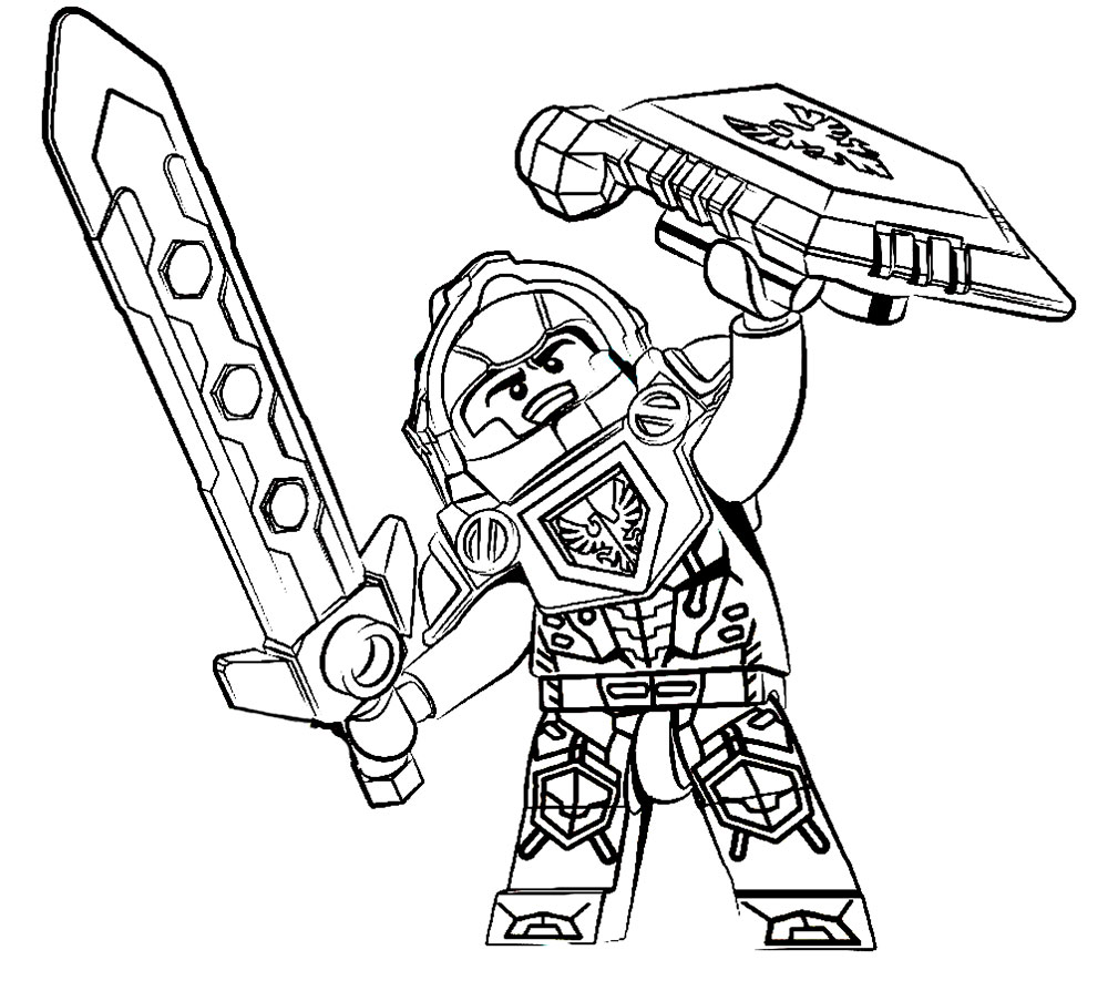 Nexo Knights Coloring Pages - nexo knight coloring pages