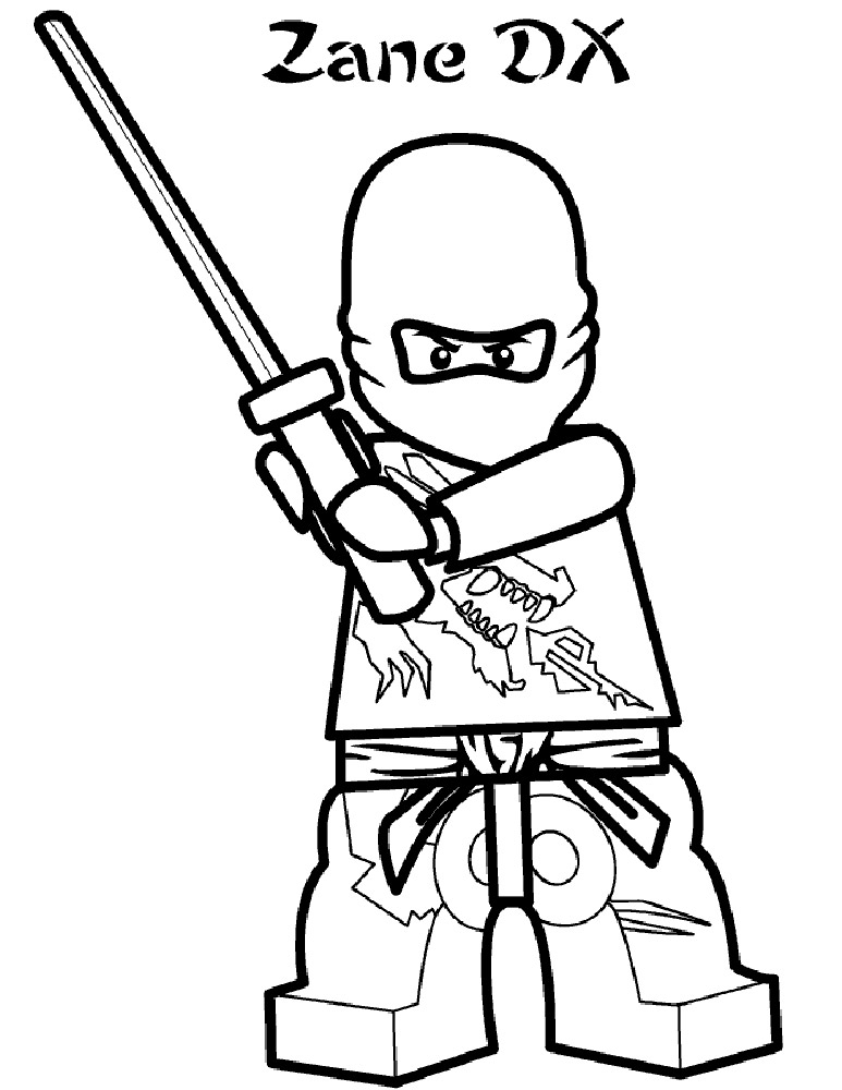Lego Ninjago Kai Coloring Pages Pages Coloring Ausmalbild Lego