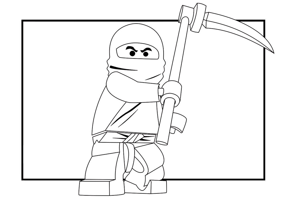 Ninjago jay coloring pages