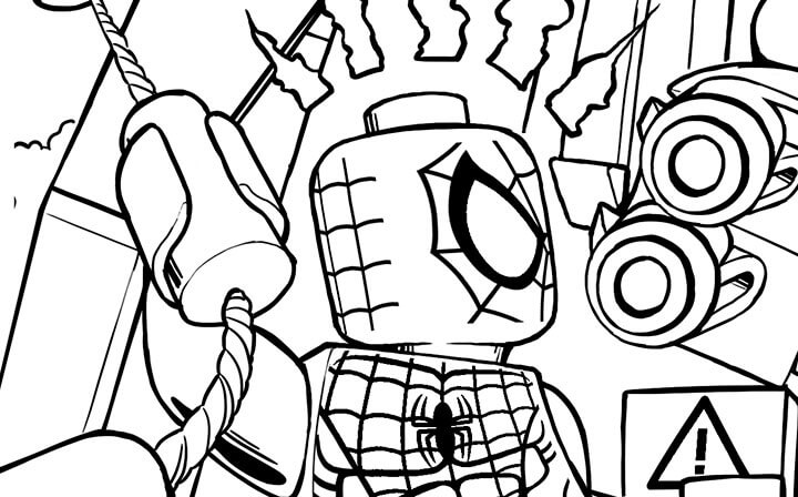 Lego Marvel coloring pages