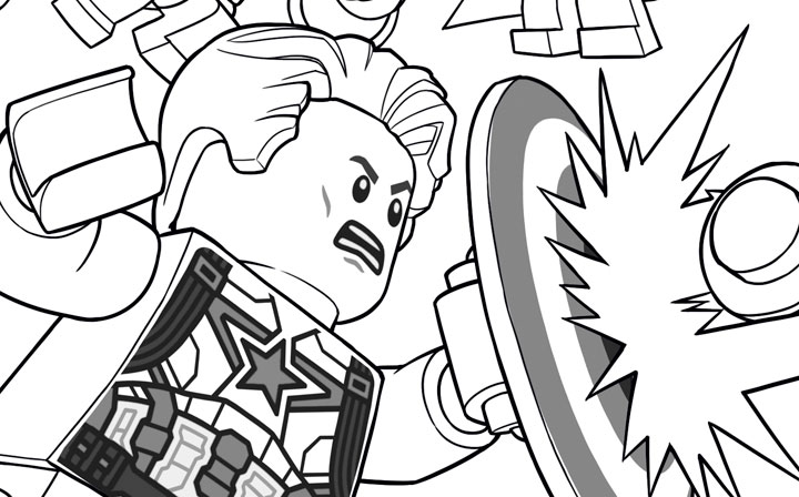 lego marvel coloring pages - Coloring Pages Lego Superheroes
