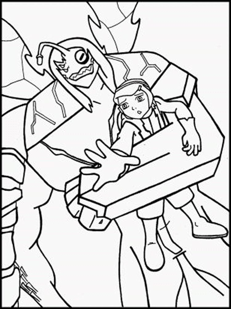 Ben 10 ultimate alien coloring pages for Ten coloring page