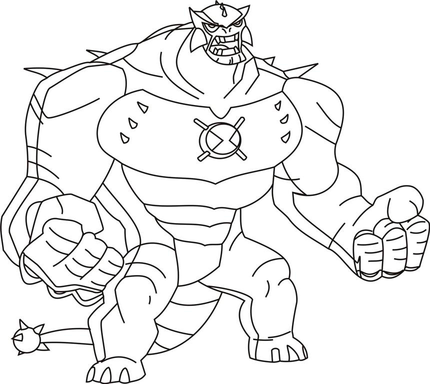 ben 10 ultimate alien coloring pages - Alien Coloring Pages 2