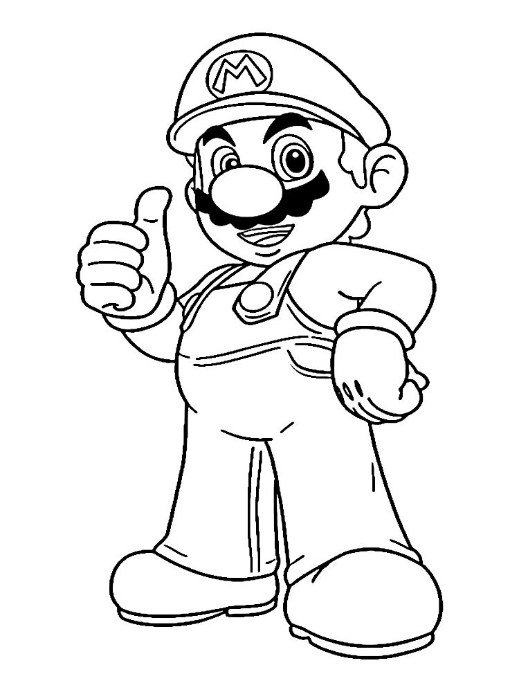 Mario Bros Coloring Pages Ghost