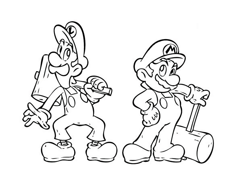 Super Mario Bros Coloring Pages