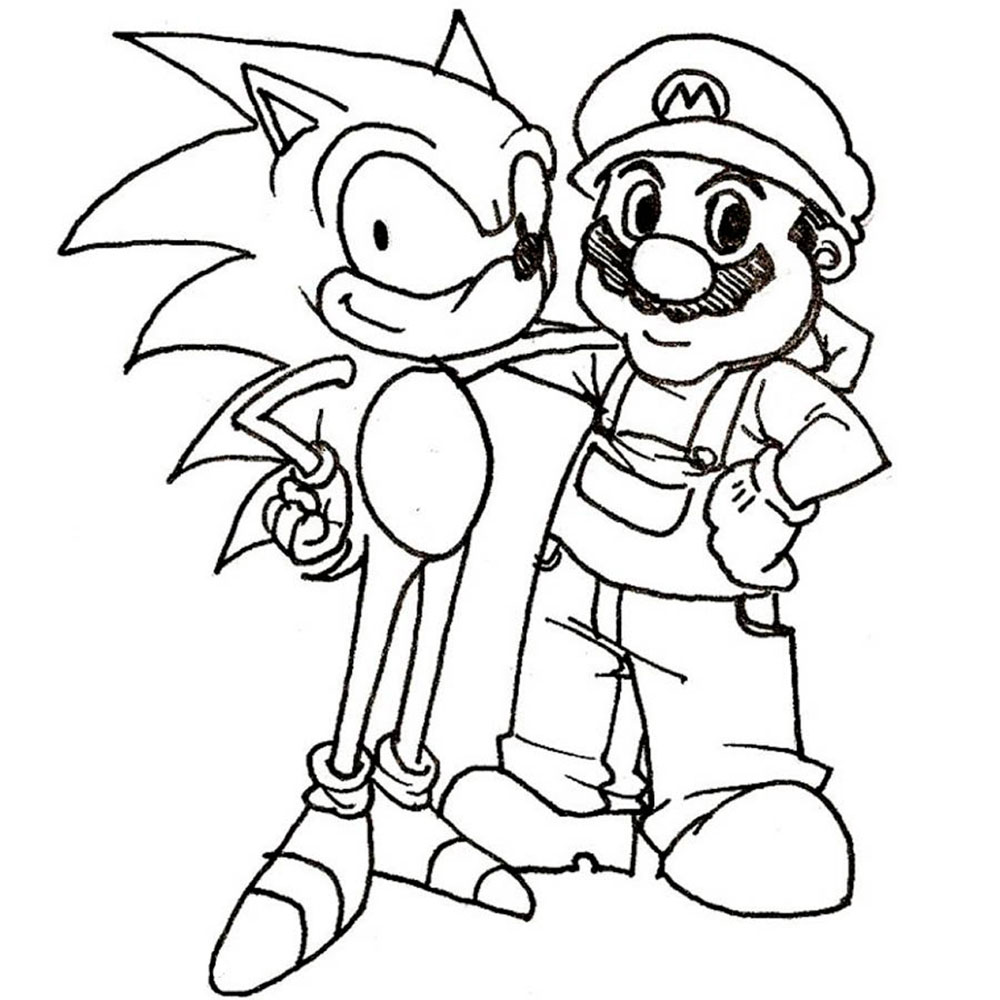 Super mario bros coloring pages for Mario color page