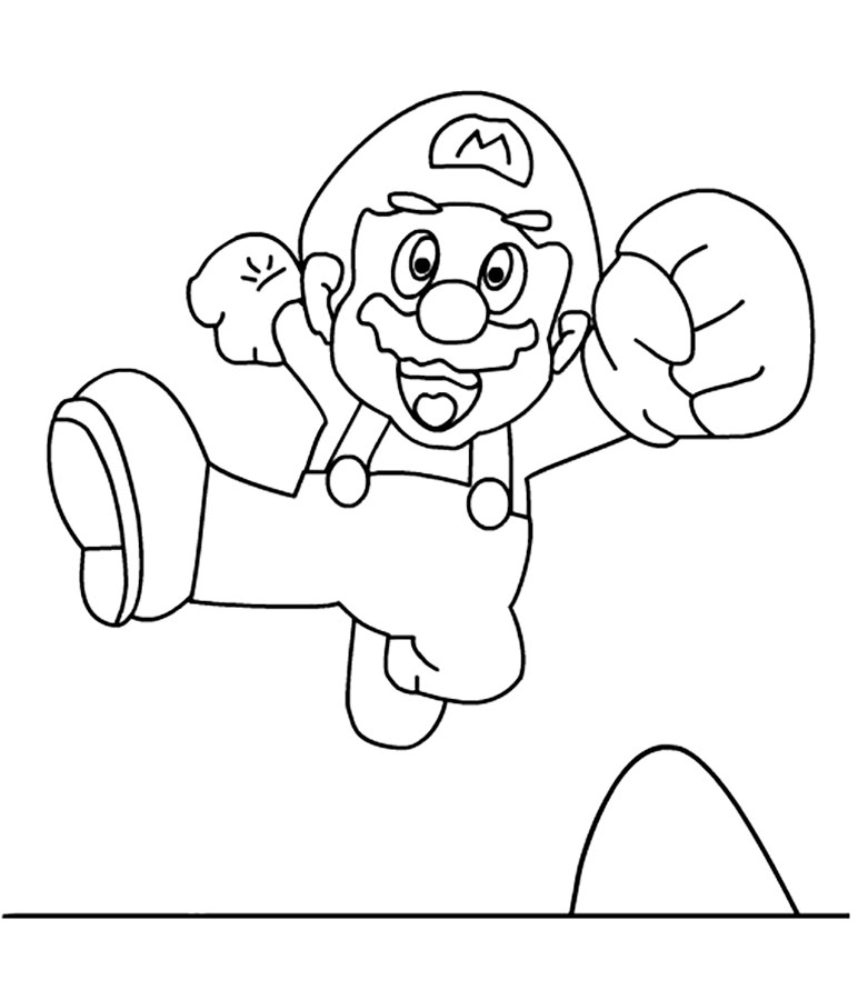 super mario soccer coloring pages - photo#42