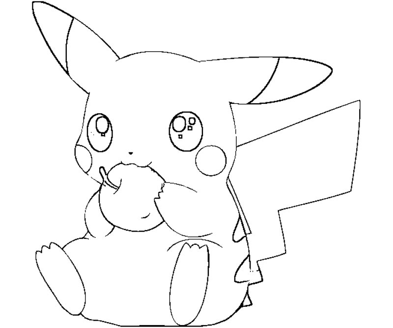 pikachu coloring pages - Pokemon Coloring Pages