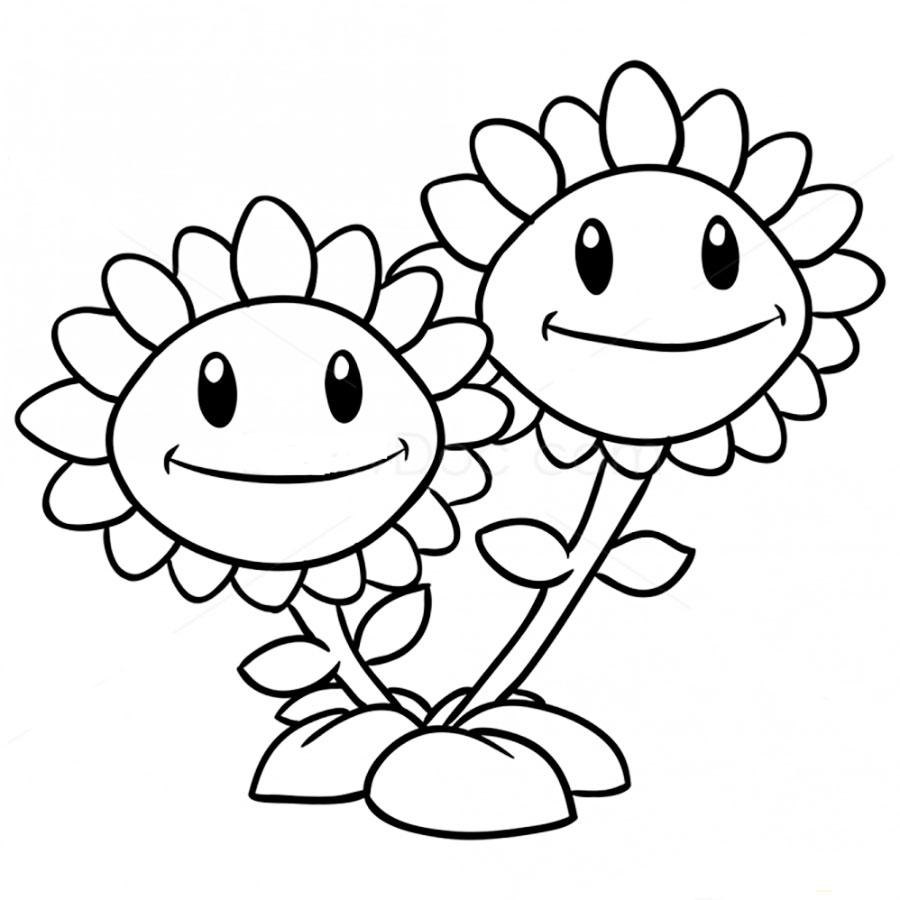 Растения раскраски