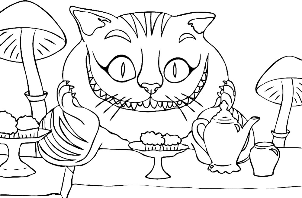 Alice in wonderland coloring pages for Richard scarry coloring pages