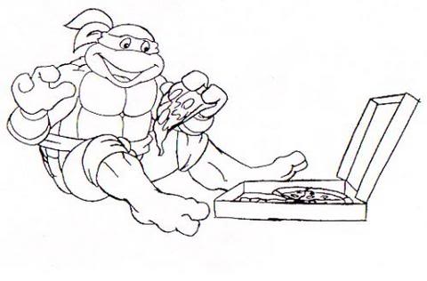 Beautiful Ninja Turtle Pizza Coloring Pages Gallery Coloring