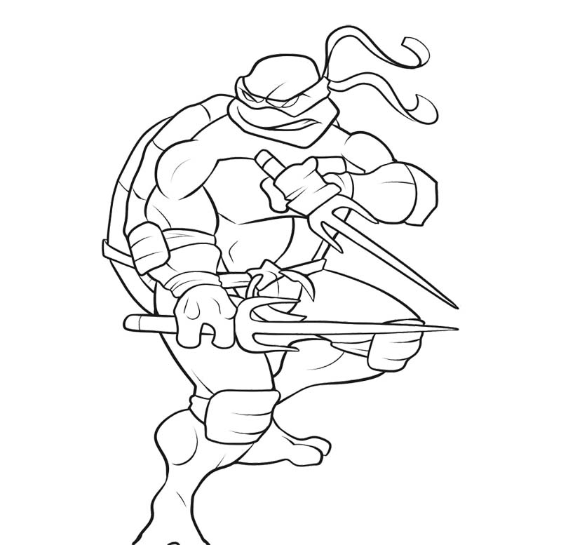 ninja turtles coloring pages - Ninja Turtles Coloring Pages To Print Free