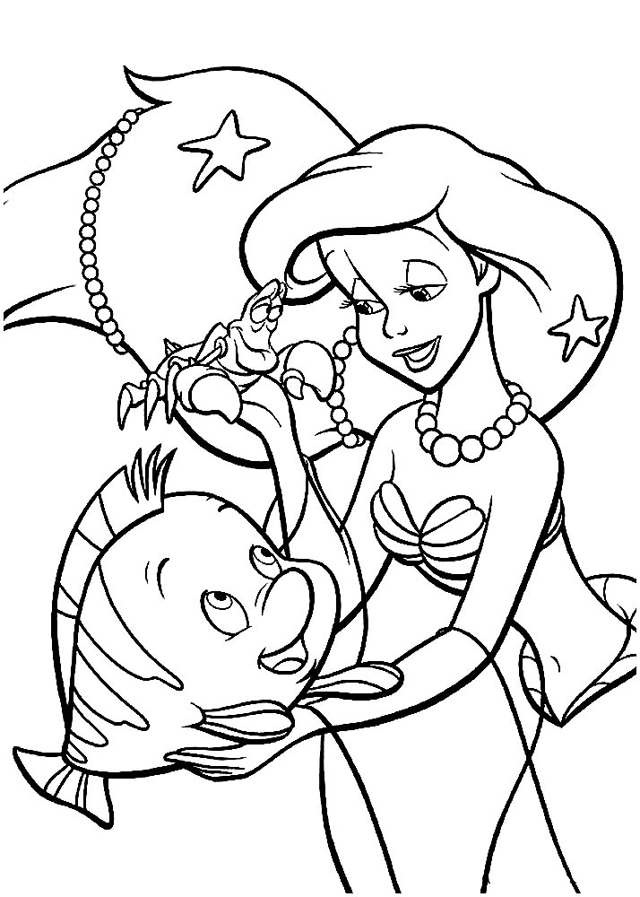 95 Princess Ariel Coloring Pages To Print