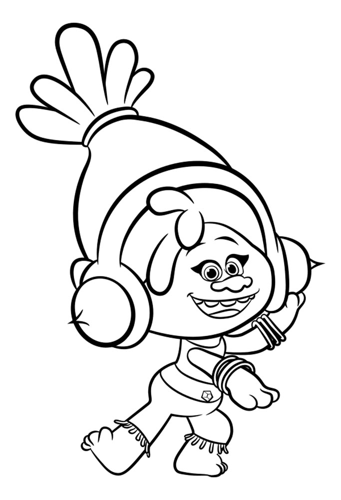 Witty image in free printable troll coloring pages