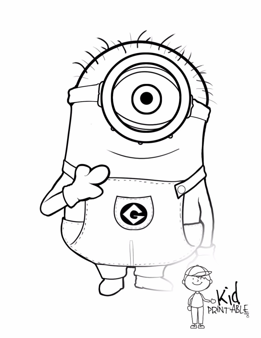 Coloring pages to print minions - Colouring Pages Minion Printable Minion Pictures Coloring Pages Minions Coloring Pages Printable Coloring Pages Printable