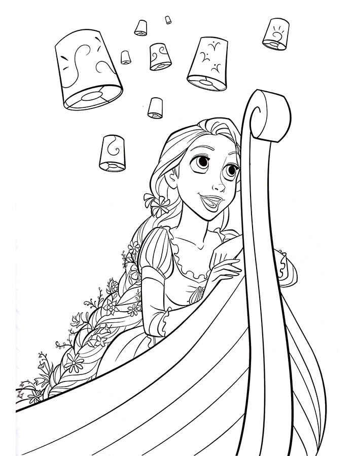 Young Rapunzel Coloring Pages Rapunzel coloring page...